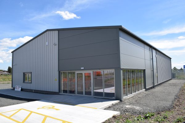 An external look at the new Kipper Hire premises built by Algo Construction
